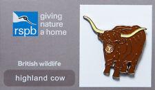 RSPB Pin Badge   Highland Cow   GNaH [00276]