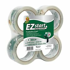 Duck Brand EZ Start Packaging Tape 1.88-Inch x 54.6-Yard Roll 4 Rolls 4 Pack 4pk
