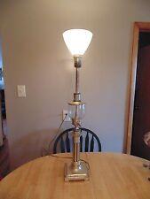 Vintage Stiffel Torchier Brass and Glass Table Lamp