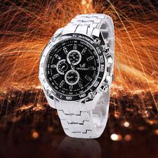 Men Fashion Military Stainless Steel Analog Date Sport Amry Quartz Wrist Watch