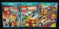 Nintendo Wii U 3 Game Lot LEGO Super Heroes Lego Movie Game, Marvel Super Heroes