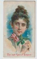 W. Duke Honest Long Cut Tobacco Card Illustrated Songs ~ The Last Rose of Summer