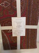 Williams Sonoma Engineered Paisley Red Tablecloth 70x108 Holiday Thanksgiving