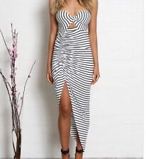 MADISON SQUARE BLACK & WHITE STRIPE DRESS, SIZE SMALL, NEW WITH TAGS