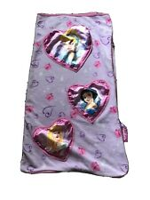Girls beautiful pink and lilac fleece Disney Princess sleeping bag