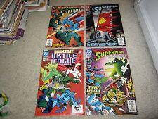 ULTRA RARE DEATH OF SUPERMAN/DOOMSDAY 3RD PRINTS SET, LOW PRINT RUN 4 COMICS!