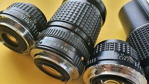 Pentax K SMC 50mm F1.4 + More Lens Set ✓