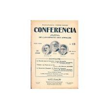 CONFERENCIA Consultat Lucien Bonaparte A l'Ecole de l'Espagne Théâtre 1930 N°13