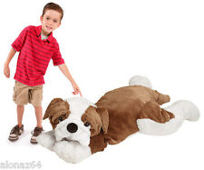 "JooJoo 60"" Jumbo Large Plush Bulldog Dog Stuffed Animal Giant Big Toy"