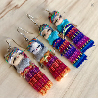 Native Guatemalan Worry dolls earrings Handmade earrings
