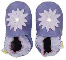 MINISTAR Purple Star Leather Baby Infant Soft Sole Pre-Walker Shoes 0-6 Mo - NEW