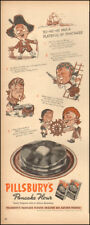 1948 Vintage ad for Pillsbury's Pancake Flour Art cartoons Post WW (050618)