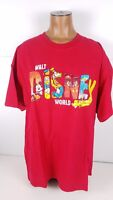 Walt Disney World Graphic T Shirt Short Sleeve Mickey Mouse Goofy Donald Sz XL