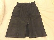 """Real Leather Lined Quality Sexy Black Pencil Skirt Size 32"""" Waist approx 40"""" Hip"""