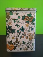 Vintage Designed by Daher Long Island Container Made in England Floral Tea Tin