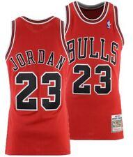 Michael Jordan Chicago Bulls #23 NBA Basketball Red/Black/White Jersey - S - XXL