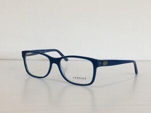 Versace MOD 3173 5056 Rectangle Blue Eyeglasses Optical Frame 56-17-140