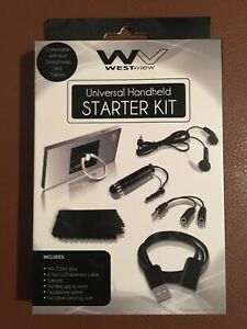 Smartphone or Tablet Accessory Kit, Stylus, Grip/Stand, USB Cable, Earbuds, more