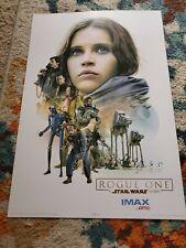 "Star Wars Poster Print Rogue One IMAX at AMC 19""x 13"" 2016 Lucasfilm Disney+"