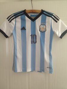 Argentina Football Shirt Home 2013 Messi #10 Soccer Jersey Adidas Camiseta Top