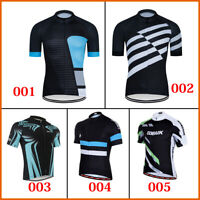 Short Sleeve Mens Cycle Bicycle Shirt Jersey Bike Cycling Jerseys Tops Wear