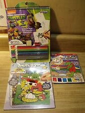 Lot of 3 ~ Magic Paint Posters, Angry Birds & Draw Teenage Mutant Ninja Turtles