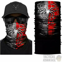 Multi function Spiderman Scarf Snood Bandanna Airsoft Face Mask Head Cover Hat