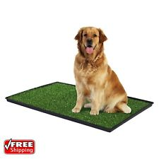 "Dog Potty Training Mat Turf Grass Pee Pad Indoor Pet Patch Portable Large 41"""