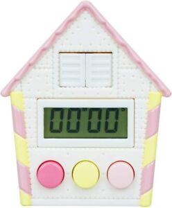 Cuckoo clock Timer Kitchen Timer Analog chocolate Pink・EX-3109 W72×D32×H87mm