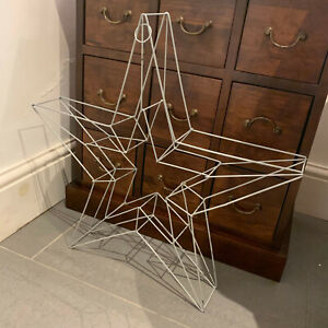 Large metal 3D frame star ~ ideal for fairy lights/wreath - 55cm