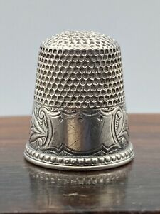 VINTAGE ESTATE MKD KETCHUM & McDOUGALL STERLING SILVER Bluebells THIMBLE SIZE 9