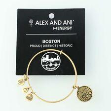 "New ALEX AND ANI Boston Bangle Charm Bracelet Adjustable 7"" Souvenir"