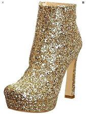 Dune Klassy D gold glitter Ankle Boots 37
