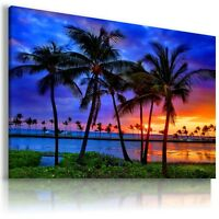 SUNRISE FOREST TREES SKY View Canvas Wall Art Picture Large SIZES L597  MATAGA .