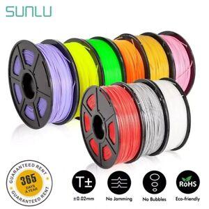 SUNLU 3D Filament 1.75mm 1Kg/TPU 0.5Kg PETG ABS Silk PLA Filament for 3D Printer