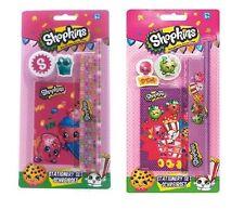 Shopkins Stationary Set Rubber Ruler Pencil Notebook Childrens School Sharpener