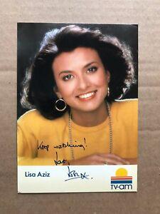 Lisa Aziz signed 6x4 photo
