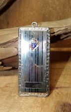 Early KNIGHTS Of COLUMBUS C,Q & R 1910 Marked Enamel STERLING LOCKET Card Case
