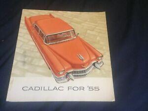 1955 Cadillac Fleetwood DeVille Series 62 Large Color Brochure Prospekt