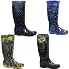 Ladies Women Wellingtons Wellies Mid Calf Rain Mucker Festival Winter Snow Boots