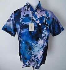 $1075 NEW BRIONI Multicolor Hawaiian 100% Silk Short Sleeve Shirt Size XL