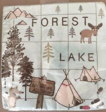 Birthday Bears, Camping, Woods, Forest Party Napkins