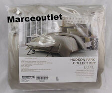 Hudson Park Luxe Piazza KING Embroidered Duvet Cover Mocha
