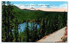 1955 Blue Lake and Mt. Washington in Oregon Postcard
