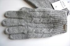 JACK WILLS GREY MARL Lambswool CABLE KNIT GLOVES One Size UNISEX Mens Womens