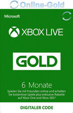 6 Monate - XBOX Live Gold Mitgliedschaft Code - Microsoft Xbox ONE 360 [EU]
