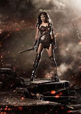 Cartel De Mujer Maravilla De Película Batman Superman Gal Gadot V Gratis P + P, elija su tamaño
