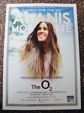 ALANIS MORISSETTE GUARDIAN ANGEL WORLD TOUR 2012 LONDON A4 POSTER