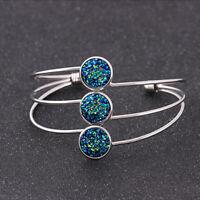 Crystal Stone Natural Stone Bracelet Cuff Bracelet Charm Cuff Bangle Women