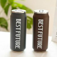Coffee Tea Thermo Can Stainless Steel Vacuum Flask Reusable Hot Cold Water Straw